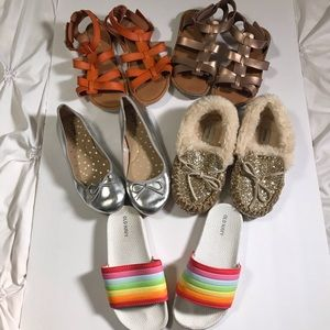 Other - Girls Size 1 Shoes Sandals Slippers Slides Lot